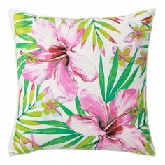 Cojín 45x45 rosa Arco Iris #LolaDerek #cojin #cojines #deco #style #colorful #home http://loladerek.es/cojin-45x45-eclectico-rosa-algodon-salon-arco-iris.html