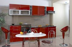 Modern Two-Tone Kitchen Cabinets #17 (Kitchen-Design-Ideas.org)