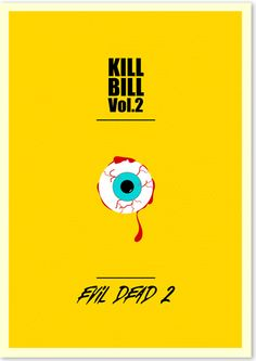 2 in 1 Movie Posters - Kill Bill Vol. 2 / Evil Dead 2