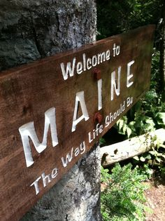Maine----been to lots of cities and towns in maine for all different reasons..my favorite place is way up in maine to go camping on debsconeque lake...