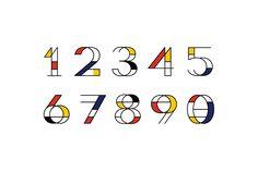 Type inspired in Mondrian.