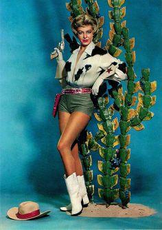 Cowgirl Pin-Up by Thomas Duchnicki, Vintage Western Wear, Vintage Cowgirl, Cowboy And Cowgirl, Cowgirl Boots, Cowboy Party, Girl Costumes, Costumes For Women, Halloween Costumes, Mermaid Costumes