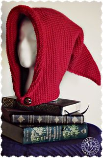 Crochet Stitches Tunisian Pixie Hood - Tunisian Crochet Fantasy Hood - Free Pattern from Morale Fiber - Free Pattern for the Tunisian Crochet Fantasy Hood – easy, versatile pattern for costumes, renaissance fairs, festivals, or just for fun. Crochet Afghans, Tunisian Crochet Patterns, Crochet Hood, Crochet Yarn, Free Crochet, Crochet Geek, Lace Knitting, Hood Pattern, Free Pattern