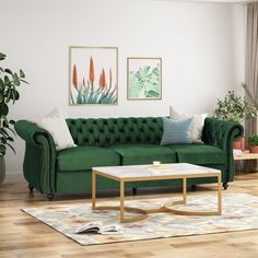 Blue leather sofa, dream decor, chesterfield style sofa, traditional looks, Living Room Green, Living Room Decor, Chesterfield Style Sofa, Microfiber Sofa, Sofa Deals, Best Leather Sofa, Couch Set, Velvet Sofa, Best Sofa