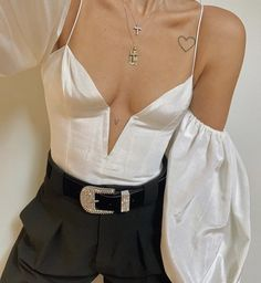 For Love & Lemons Celeste Moire Top Look Fashion, Korean Fashion, Fashion Outfits, Womens Fashion, Fashion Design, Girl Fashion, Mode Inspiration, Looks Style, Mode Style