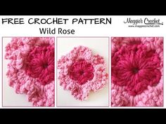 ▶ Wild Rose Free Crochet Pattern - Right Handed - YouTube