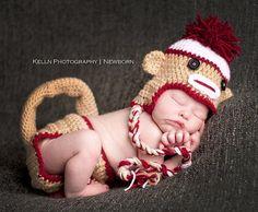 sweet baby sock monkey
