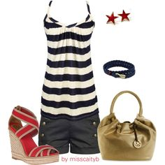 """""""Sailor Outfit"""" by misscaityb on Polyvore"""