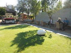 green space at Tiny Boxwoods in Houston
