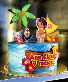 Bolo Moana, Moana Bebe, Moana Party, Under The Sea Party, Cake Art, Cake Toppers, Birthday Cake, Ariel, Desserts