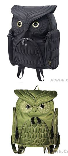 That is a so cute owl backpack !Fashion Street Cool Owl Shape Solid Computer Backpack School Bag Travel Bag #backpack #school #owl #animal #cute #bag