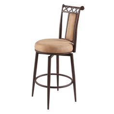 """@Overstock - 26"""" Memory Return Swivel Counter Stool - This swivel stool is available in counter height or bar height. The seat and back cushion are in taupe or black suede. It is a luxurious addition to your home bar or cafe table. This stool features an...  http://www.overstock.com/Home-Garden/26-Memory-Return-Swivel-Counter-Stool/8912713/product.html?CID=214117 $135.99"""