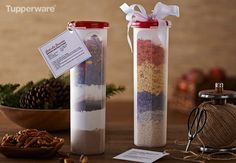 """Gift """"In a Jar"""". Fill our Spaghetti Dispenser with dry ingredients and attach a recipe card for a unique, delicious and affordable gift."""