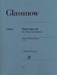 Élégie Opus 44 für Viola und Klavier = Élégie for viola and piano, op. 44 / Alexander Glasunow. Classmark: 887.D.G3