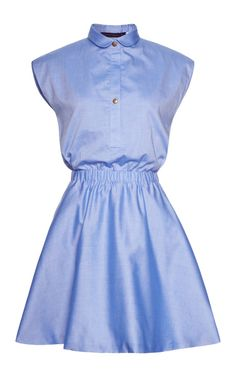 Shop M'O Exclusive: Cotton Chambray Dress by Harvey Faircloth Now Available on Moda Operandi