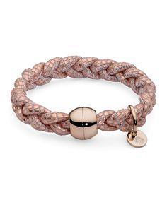 Pulsera Qudo Acero Rosa Napa CODINO Internet, Wedding Rings, Engagement Rings, Bracelets, Collection, Jewelry, Fashion, Ivory, Jewel