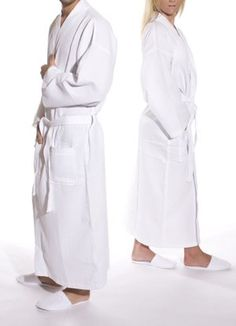 Long waffle weave robe in white is available as mens robes and womens  kimono robe at CottonAge. Buy your cotton spa robe at wholesale prices  today! feeaf4e83
