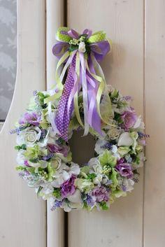 Wianek z kwiatów Prowansji- Ślub,Wesele,Komunia, dekoracje do domu, kuchni, restauracji