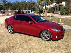 my new car!  it's soooo amazing!!! 2010 Lexus IS250.  matador red.