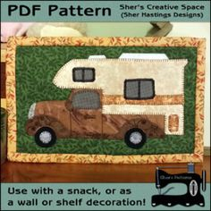 Let's Go Camping Mug Rug - Mini Quilt | YouCanMakeThis.com