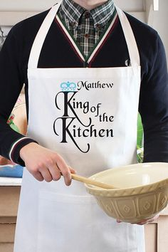 Buy King of the Kitchen Apron From K Life. Your online shop for KLifePersonalised