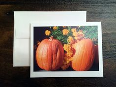 Unique photo note cards FALL PUMPKINS on Etsy #notecards #greetingcards #fall #autumn #etsy
