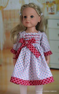 Волшебные снежинки. Платье для Ханнаы от Готц. / Одежда и обувь для кукол - своими руками и не только / Бэйбики. Куклы фото. Одежда для кукол