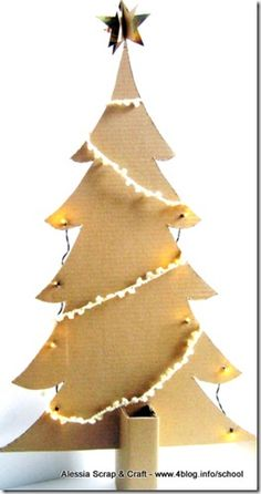 Chores Christmas tree cardboard Eco EHIC Christmas Craft