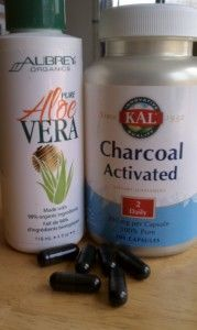 activated charcoal for a natural acne spot treatment