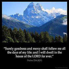 Imagem inspirada para Salmos 23: 6