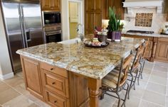 Desert Gold Granite Countertops....such a unique countertop!!