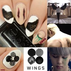 Uñas de Bts Blood Sweat & Tears creado por Not Your Average Nails
