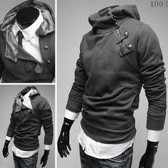 Aliexpress.com : Buy SHIPPING FREE CHIC Mens Special Button Hoodie Jacket 4colors from Reliable Hoodies suppliers on China Mens Fashion Outlet