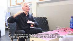 Interview Gerhard Joksch: designer (with Otl Aicher) 1972 Munich Olympic...