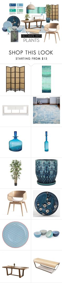 """Ikebana Style Design"" by quicherz on Polyvore featuring interior, interiors, interior design, home, home decor, interior decorating, Home Decorators Collection, TemaHome, West Elm and Lazy Susan"