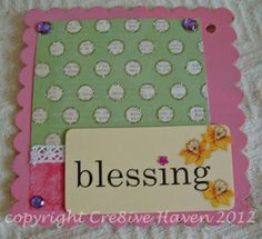 Blessings baby girl mini album page