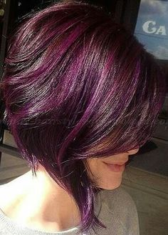 beautiful hair color with a great hair cut. Bobbed Hairstyles With Fringe, Trendy Hairstyles, Bob Hairstyles, Pixie Haircuts, Medium Hairstyles, Braided Hairstyles, Wedding Hairstyles, Love Hair, Great Hair
