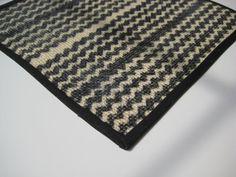Chevron Black and Ivory Sisal Rug  Modern Miniature by giginstudio, $13.00