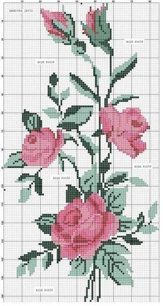 New Nature Pattern Flower Ideas Cross Stitch Rose, Cross Stitch Flowers, Cross Stitch Charts, Cross Stitch Designs, Cross Stitch Patterns, Patterns In Nature, Flower Patterns, Beading Patterns, Pattern Flower