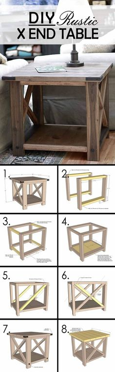 61 Best Ideas For Rustic Furniture Diy Farmhouse Table Plans Coffee Table Design, Diy Coffee Table, Diy Table, Wood Table, Patio Table, Easy Coffee, Table Bench, Farmhouse Dining Room Table, Farmhouse Furniture