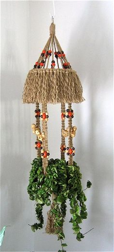 Macrame Plant Hangers made by me.