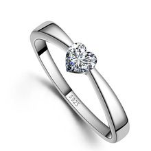 Cheap ring 925 sterling, Buy Quality ring 925 directly from China wedding rings Suppliers: Love Heart Women Wedding Ring 925 Sterling Silver Material Austria Crystal With SWA Elements Bague en argent Jewelry Wholesale Diamond Wedding Bands, Diamond Bands, Sterling Silver Wedding Rings, 925 Silver, Silver Rings, Leaf Engagement Ring, Engagement Jewelry, Wedding Engagement, Wedding Jewelry