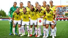 The Colombian team pose prior to the FIFA Women's World Cup 2015 Group F match between Colombia and Mexico at the Moncton Stadium on June 9, 2015 in Moncton, Canada.  (Photo by Clive Rose - FIFA/FIFA via Getty Images)