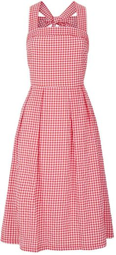 Shop the Look from mimicouturedujour on ShopStyleRed Gingham Dress Sewing Clothes Women, Women's Clothes, Clothes For Women, Gingham Dress, Red Gingham, Boho Outfits, Casual Outfits, Day Dresses, Summer Dresses