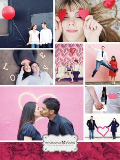 Valentine's Day engagement photo sessions