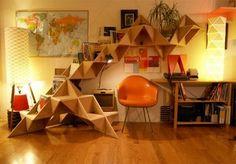 Triangle Bookshelf.  I'm doing this.