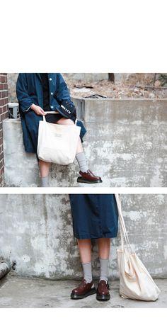 combo: long coat / high socks / dr.martens