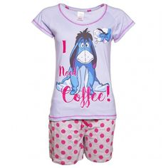 d4f7555ba2 Women s Disney Eeyore I Need Coffee Shortie Pyjamas (1