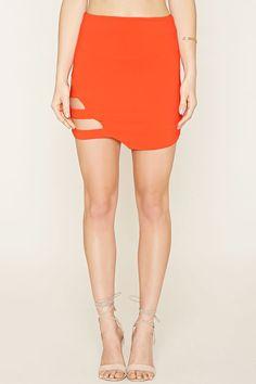 Caged-Cutout Mini Skirt