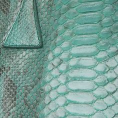 Detail of back cut python leather by GLENI